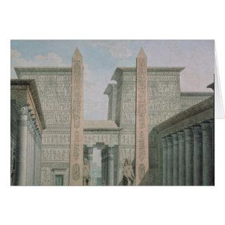 Cartes L'entrée au temple, scène III de l'acte I