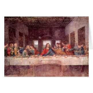 Cartes Leonardo da Vinci - le dernier dîner