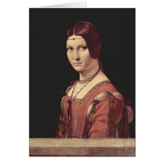Cartes Leonardo de da Vinci - Ferronnière de belle de La