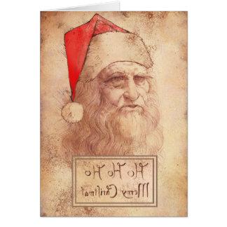 Cartes Leonardo humoristique comme Père Noël