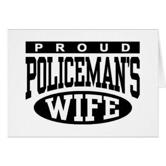 Cartes L'épouse du policier