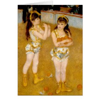 Cartes Les acrobates de Renoir chez le Cirque Fernando