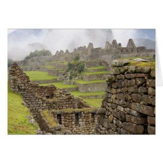 Cartes Les Amériques, Pérou, Machu PIcchu. L'antique