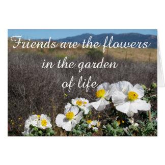 Cartes Les amis sont les fleurs