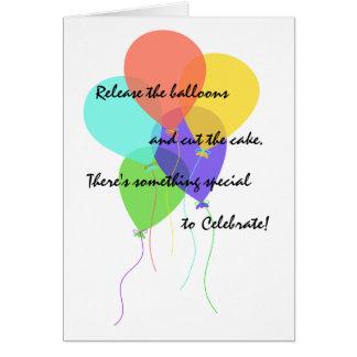 Cartes Les ballons lumineux ajoutent la salutation