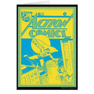 Cartes Les bandes dessinées d'action Superman économise