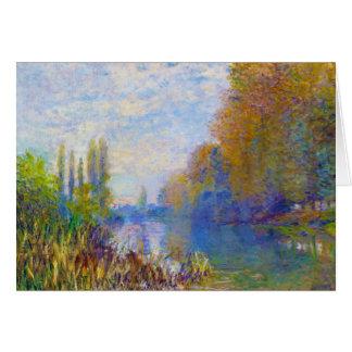 Cartes Les banques de la Seine en automne Claude Monet