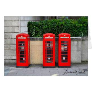 Cartes Les cabines de téléphone rouges iconiques de