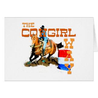 Cartes Les cadeaux de manière de cow-girl