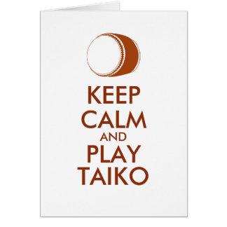 Cartes Les cadeaux de Taiko gardent la coutume de tambour