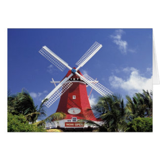 Cartes Les Caraïbe, Aruba. Vieux moulin, converti en