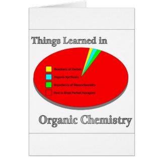 Cartes Les choses I appris en chimie organique
