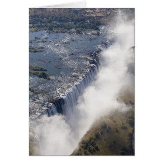 Cartes Les chutes Victoria, rivière de Zambesi, Zambie -