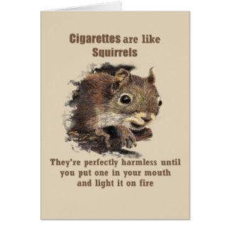 Cartes Les cigarettes sont comme le tabagisme stoppé par