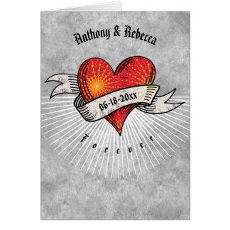 Cartes Les coeurs tatoués par Saint-Valentin ajoutent les
