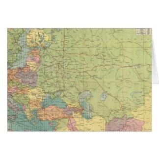 Cartes Les communications de l'Europe sur terre, mer