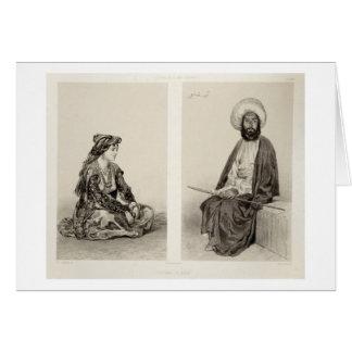 Cartes Les costumes de Bakou, côte caspienne, plaquent 35