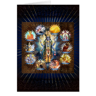 Cartes Les Dix avatars de Vishnu - carte, salutation,
