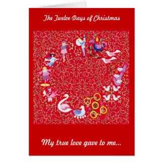 Cartes Les douze jours de Noël