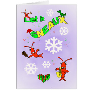 Cartes Les écrevisses de Cajun l'ont laissé Noël de