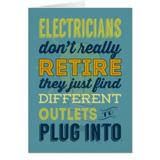 Cartes Les électriciens ne se retirent pas vraiment