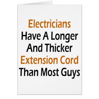 Cartes Les électriciens ont une plus longue et plus