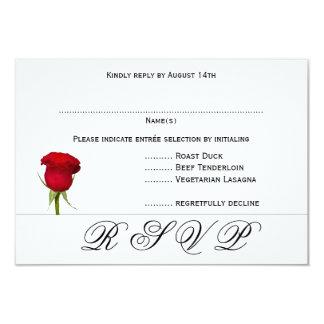 Cartes les épousant noires et blanches de menu du carton d'invitation 8,89 cm x 12,70 cm