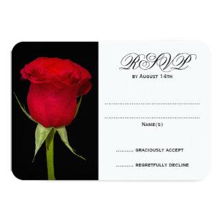 Cartes les épousant noires et blanches du rose carton d'invitation 8,89 cm x 12,70 cm