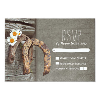 Cartes les épousant rustiques du pays en fer à carton d'invitation 8,89 cm x 12,70 cm