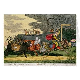 Cartes Les Espagnols que Taureau s'est cassés perdent ou,