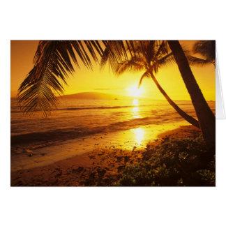 Cartes Les Etats-Unis, Hawaï, Maui, coucher du soleil