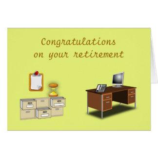 Cartes Les félicitations sur votre bureau de retraite se