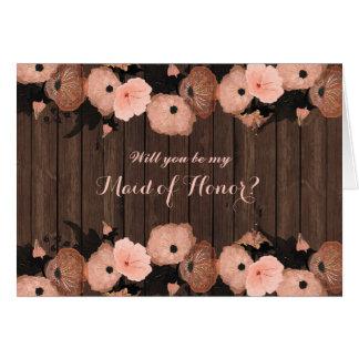 Cartes Les fleurs de rose saumoné soient ma domestique de