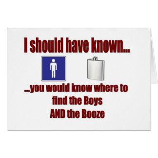 Cartes Les garçons ET les boissons alcoolisées !