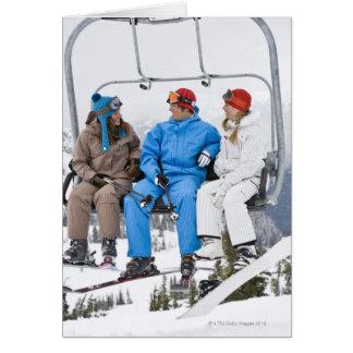 Cartes Les gens sur la remonte-pente, Whistler-Blackcomb,
