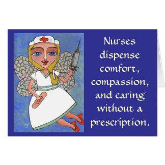 Cartes Les infirmières distribuent le confort,