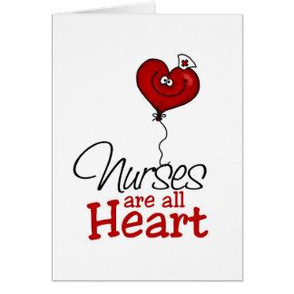 Cartes Les infirmières sont tout le coeur