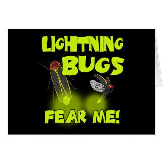 Cartes Les insectes de foudre me craignent