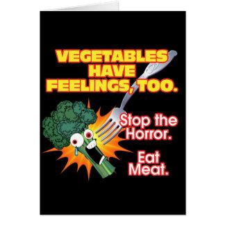 Cartes Les légumes ont des sentiments, aussi