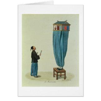 Cartes Les marionnettes, gravées par la Mlle. Formentin,