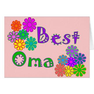 Cartes Les meilleurs cadeaux du jour de mère d'Oma