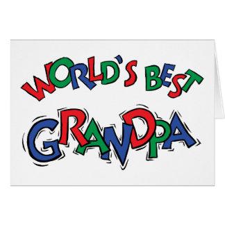 Cartes Les meilleurs chèques-cadeau du grand-papa du