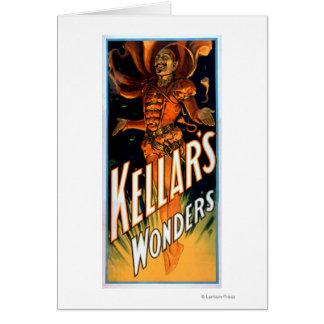 Cartes Les merveilles de Kellar habillées comme la magie
