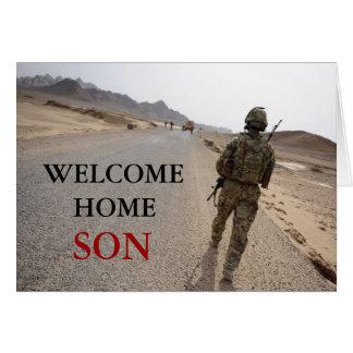Cartes Les militaires à la maison bienvenus de fils