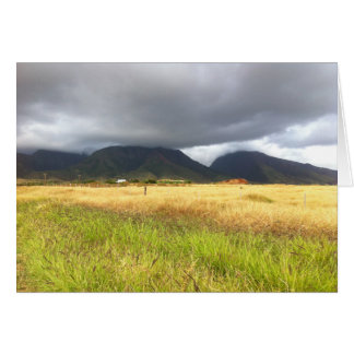 Cartes Les montagnes s'approchent de Lahaina, Maui, Hawaï