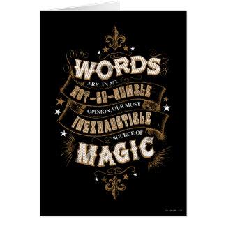 Cartes Les mots du charme | de Harry Potter sont notre la