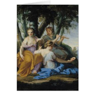 Cartes Les Muses, Clio, euterpe et Thalia, c.1652-55