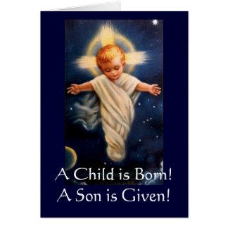 Cartes Les no. de Propter d'avènement, un enfant est né !