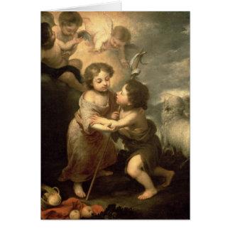 Cartes Les nourrissons le Christ et Jean-Baptist