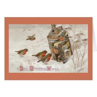 Cartes Les oiseaux trouvent l'abri dans Noël de cru de